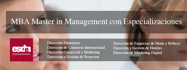MBA Master in Management con Especializaciones